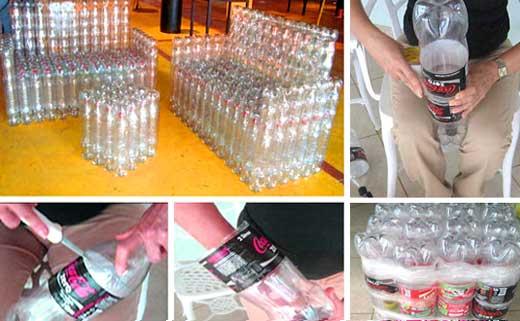 Мебель из пластиковых бутылок пошагово с