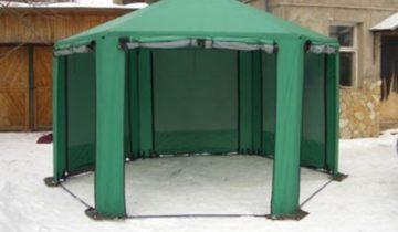 Шестиугольный шатёр для дачи