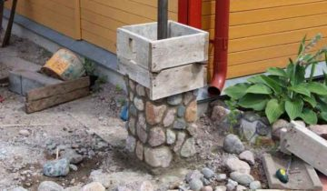 Скользящая опалубка для изготовления столбов