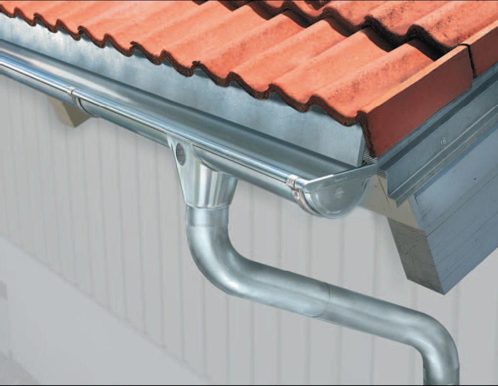 Водостоки для крыши своими руками: как сделать водосточную 50