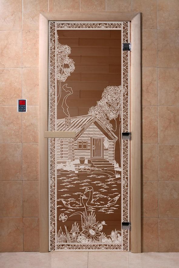 Дверь из термопластика в бане