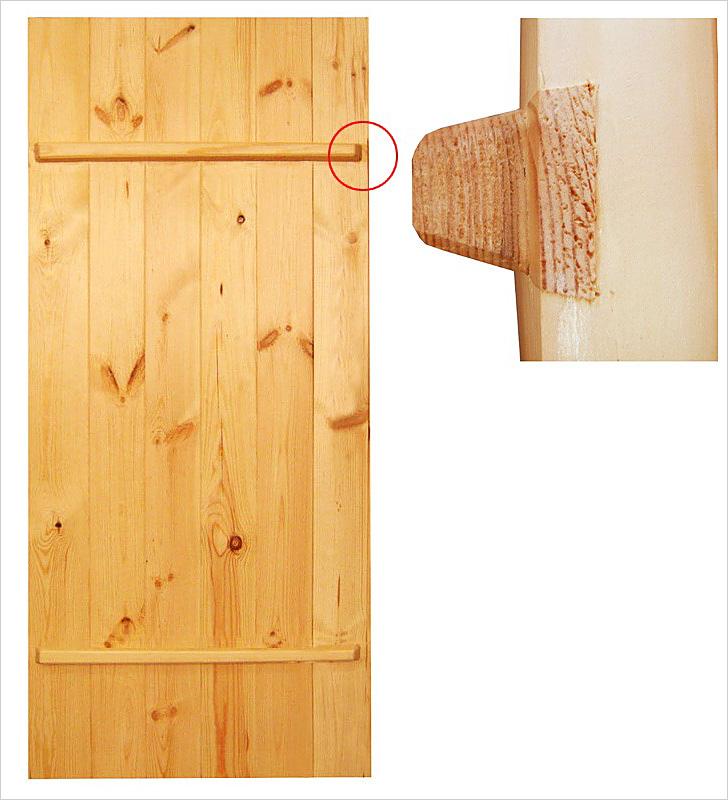 Дверь с 2 поперечными планками