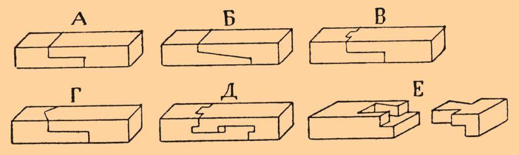 Схема соединений древесины