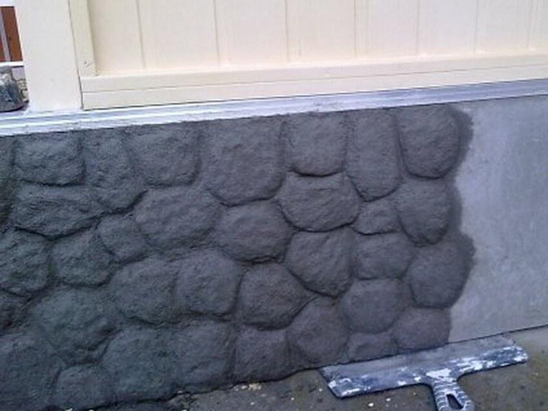 Цементная штукатурка под камень