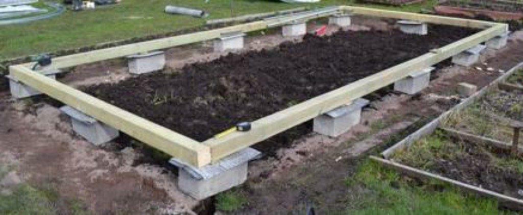 Столбчатый незаглублённый фундамент из бетонных блоков