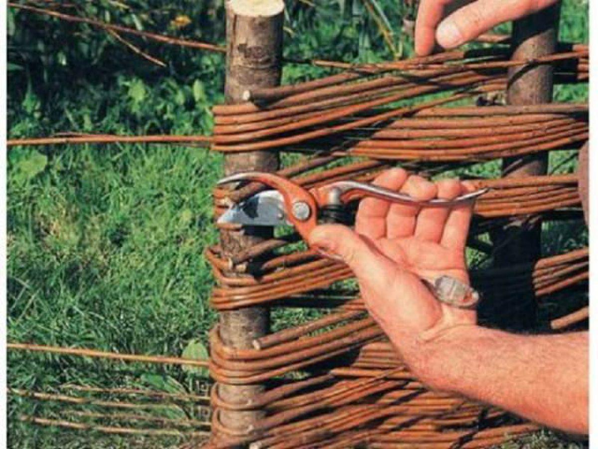 Как сделать плетень из прутьев своими руками