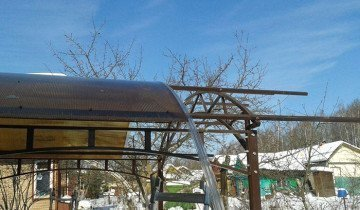 Установка поликарбоната на крышу беседки, coralz.ru