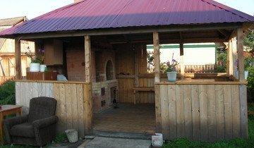 Фотография деревянного навеса для мангала, ucrazy.ru