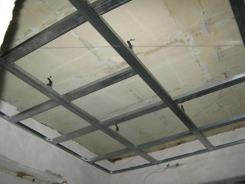 Потолок из гипсокартона фото своими руками