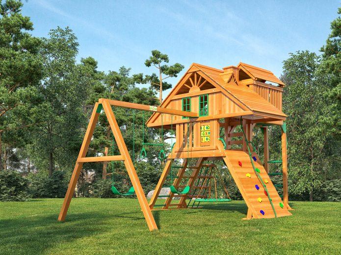 Сделать детскую площадку своими руками на даче