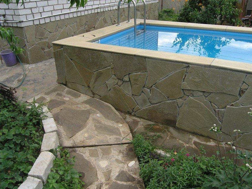 Наземный бассейн из полипропилена