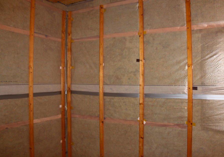 Внутренняя обшивка стен бани