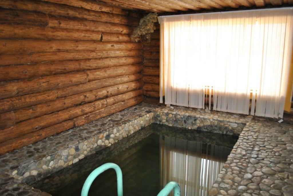 Бассейн в деревянной бане