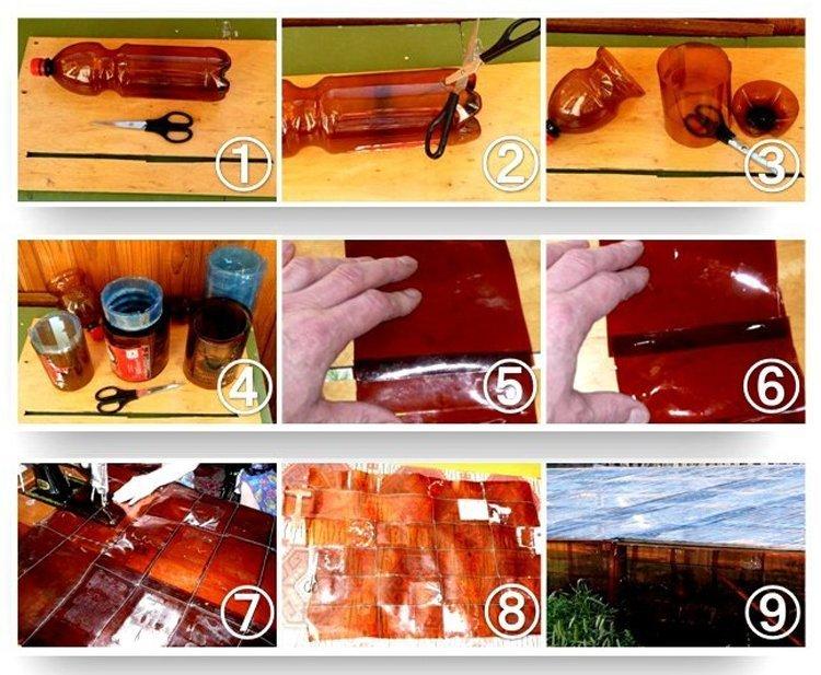 Этапы изготовления пластин из пластиковой тары