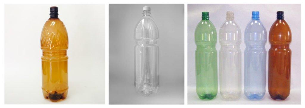 Прозрачная и цветная пластиковая тара