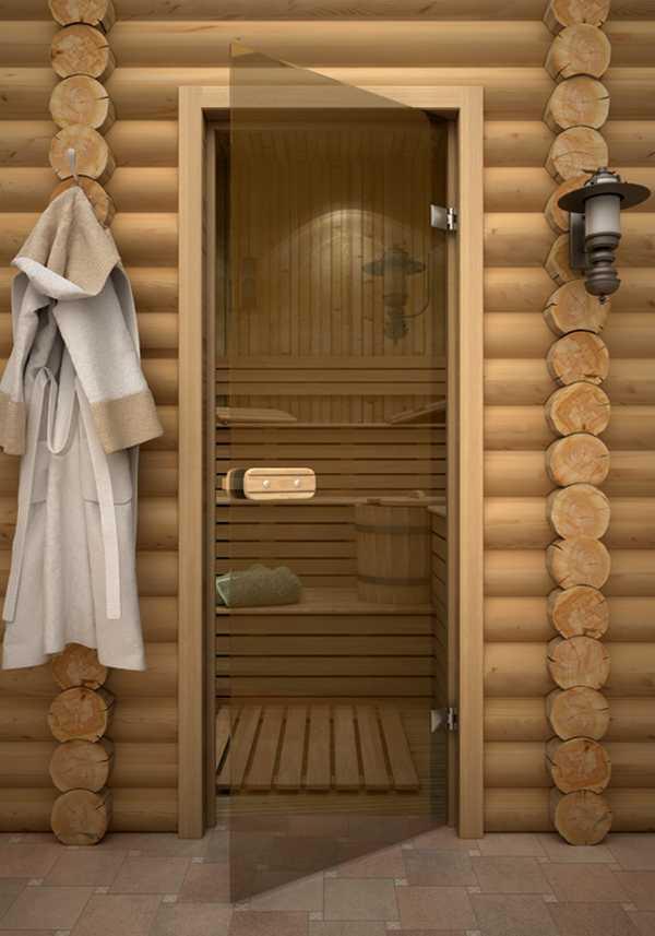 Стеклянная дверь, ведущая в парилку