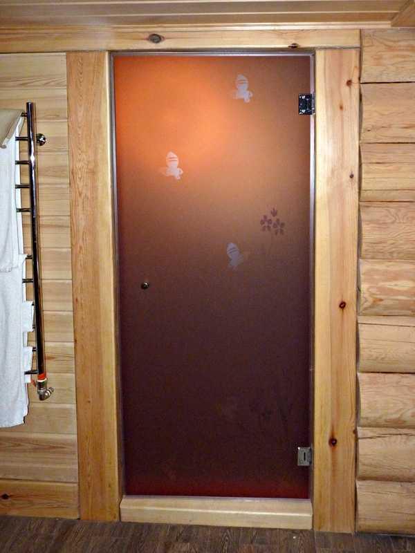 Дверь из стекла с рисунком