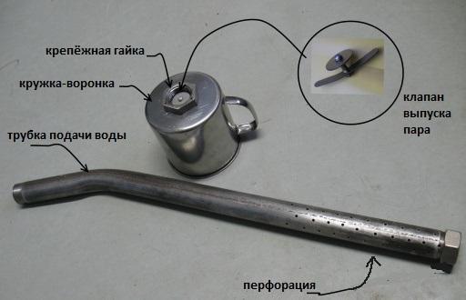 Детали паровой пушки