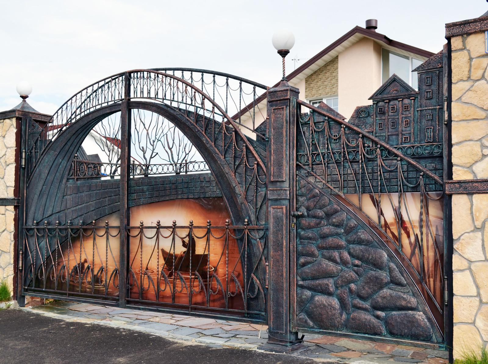 149Распашные металлические ворота своими руками