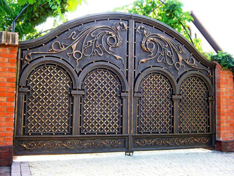 Ворота распашные своими руками фото фото 547