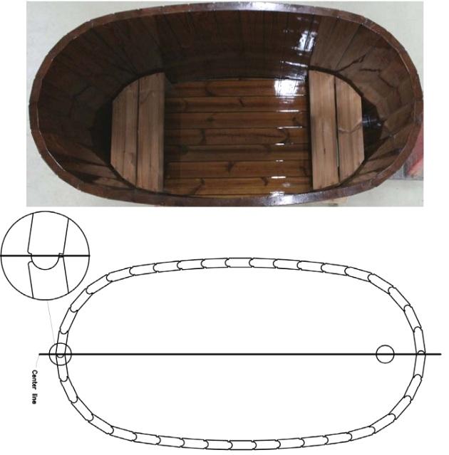 Схема овальной купели