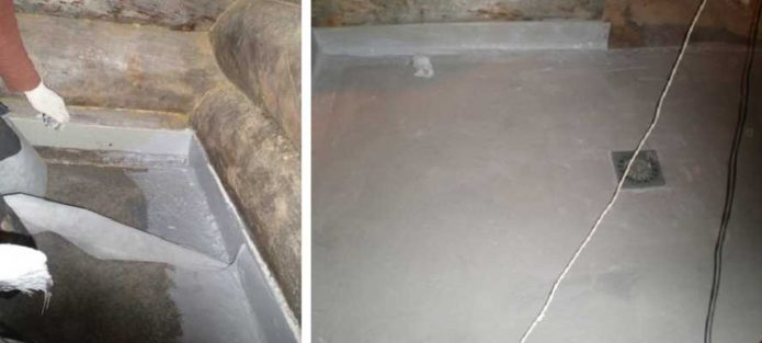 Заливка и выравнивание бетонной стяжки