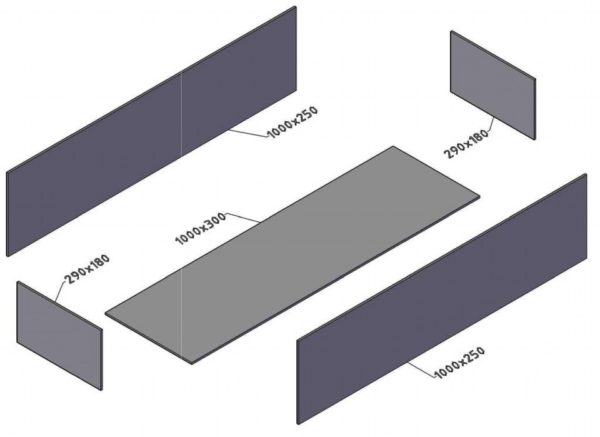Пример сборки мангала из деталей определённого размера