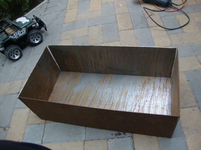 Процесс изготовление мангала из листа металла