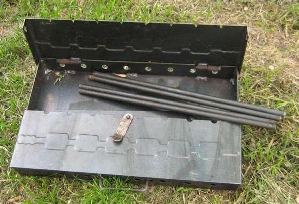 Изготовленный складной мангал