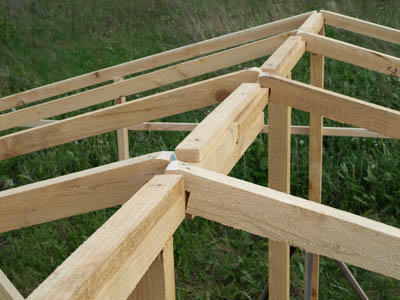 Пример каркаса крыши