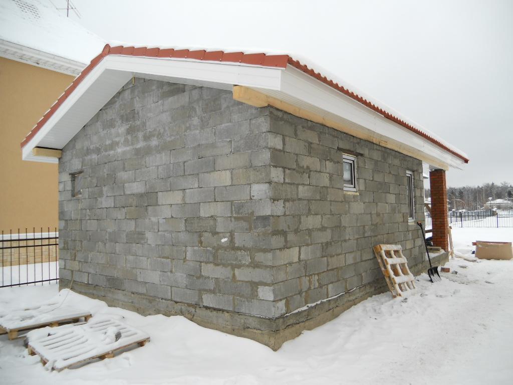 Как построить баню из блоков пошаговая инструкция