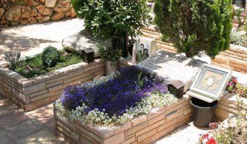 Цветущие растения на могиле