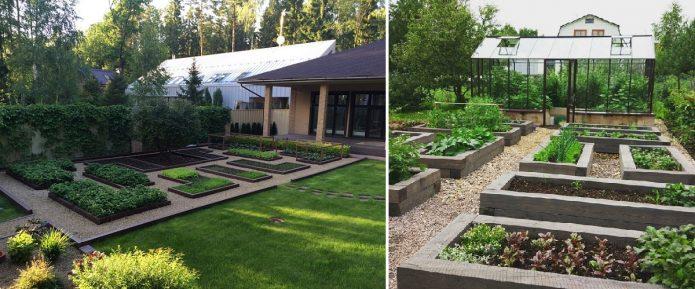 Варианты расположения огорода