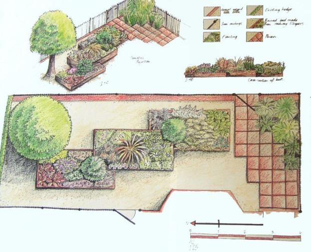 Схема палисадника